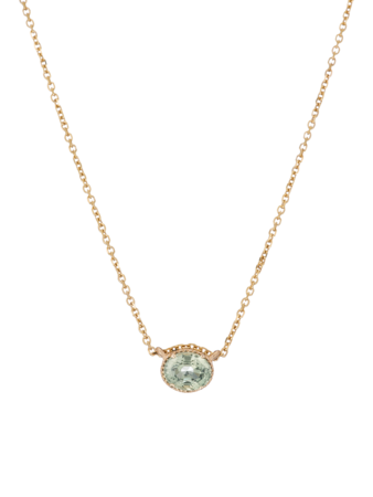 Green Sapphire Hope Necklace
