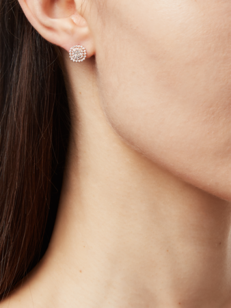 Cushion Cut Double Halo Earrings