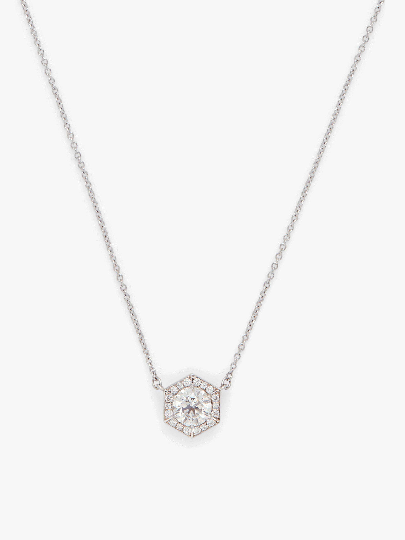 Hexagon Halo Necklace