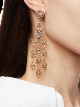 Marquise Dangling Chandelier Drop Earrings