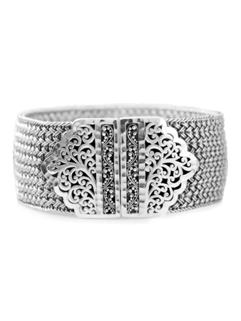 Cut Out Weave Bangle