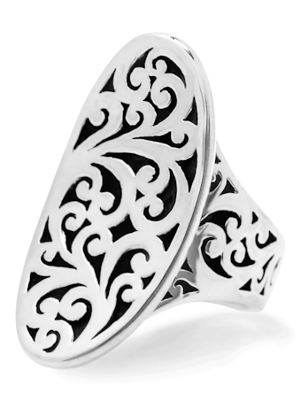 Classic Oval Cut Out Saddle Ring