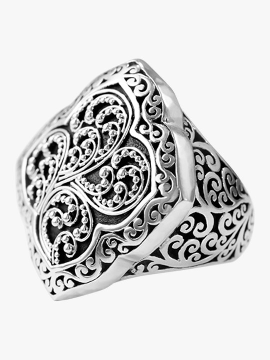 Lois Hill Signature Carved Ring 0