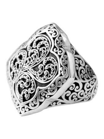 Signature Carved Ring
