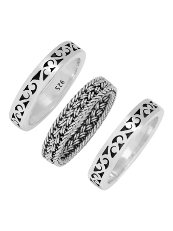 Triple Stacked Ring Set