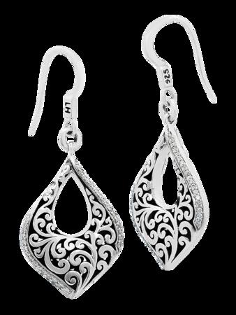 Open Scroll Teardrop Earrings