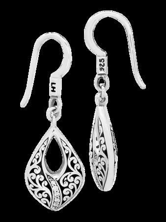 Classic Swish Teardrop Earrings