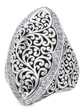 Marquise Scroll Ring