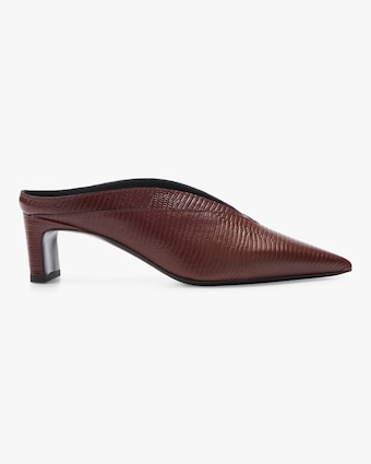 Spyke Embossed Leather Mule