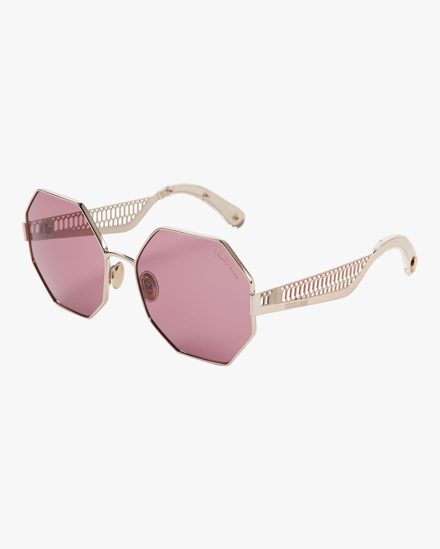 "Geometric ""Snake"" Octagonal Sunglasses"