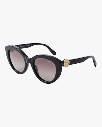 "Cat Eye ""Medallion"" Sunglasses"