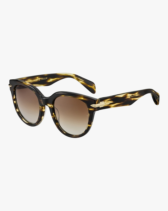 rag & bone Round Cay Eye Polarized Sunglasses 1