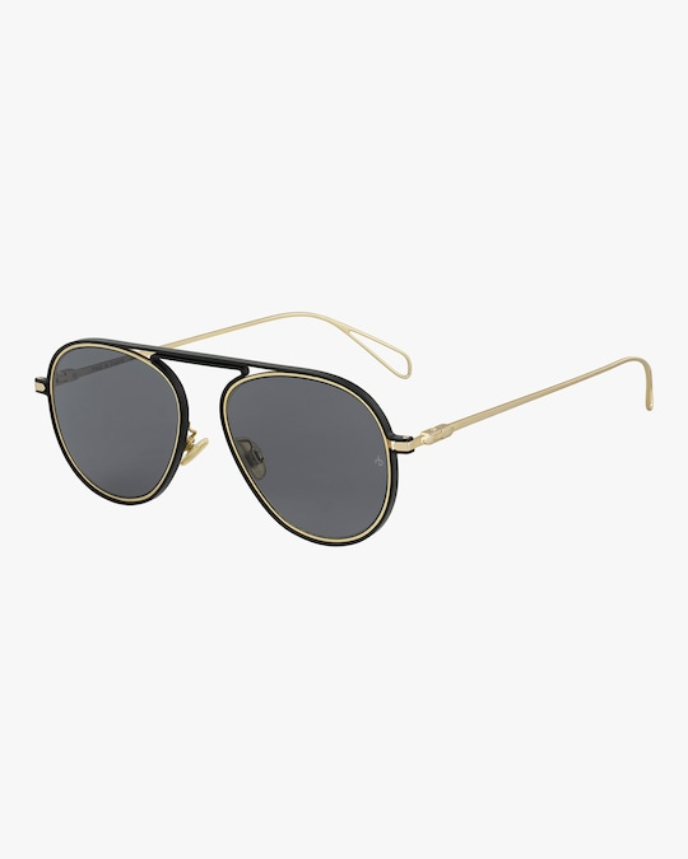 rag & bone Round Metal Aviator Sunglasses 1