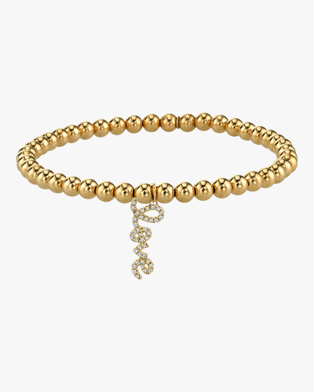 Love Script Beaded Bracelet