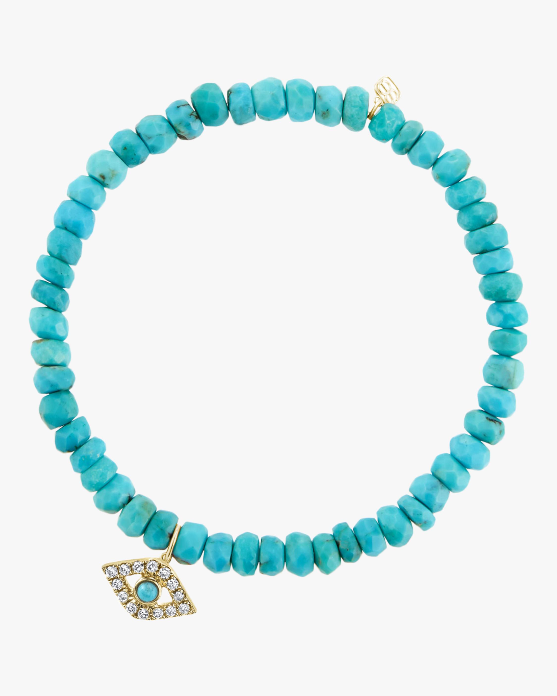 Turquoise Bead Evil Eye Bracelet