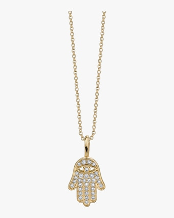 Mini Hamsa Charm Necklace