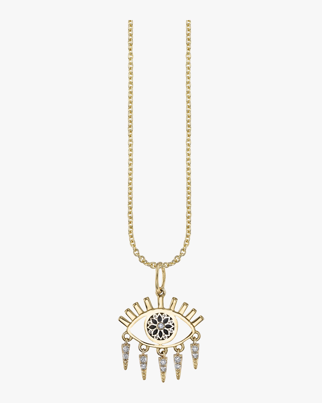 Evil Eye Fringe Charm Necklace