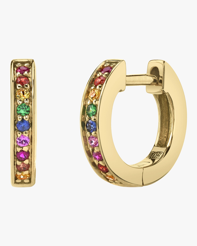 Rainbow Huggie Hoop Earrings