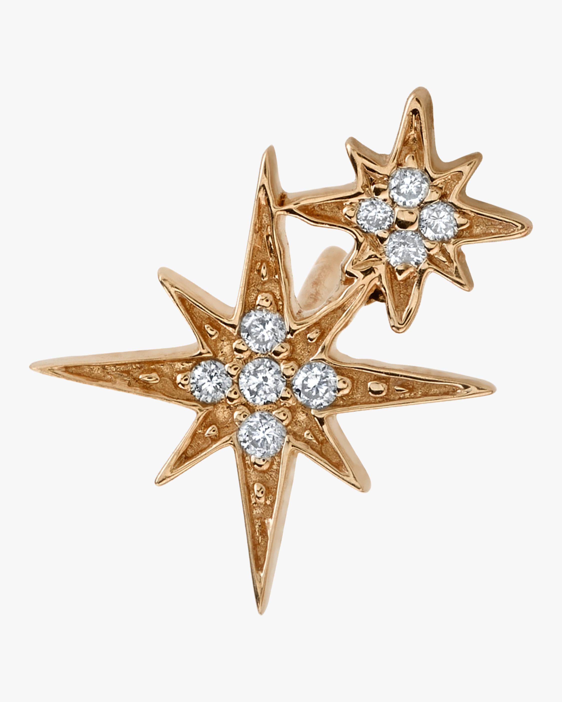Double Starburst Single Stud Earring