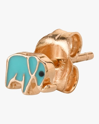 Mini Elephant Single Stud Earring (Left)