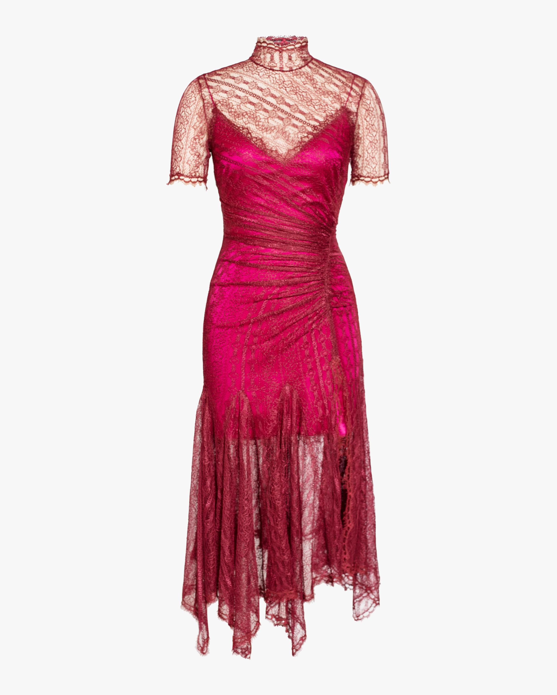 Sateen Lingerie Lace Dress