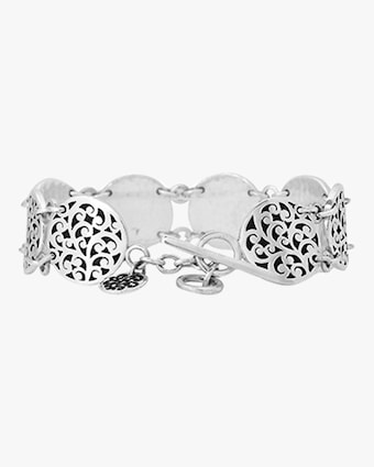 Lois Hill Classic Signature Scroll Disc Station Bracelet 1