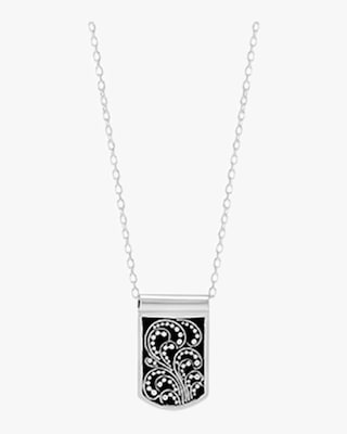 Lois Hill Reversible Signature Scroll Dog Tag Necklace 2