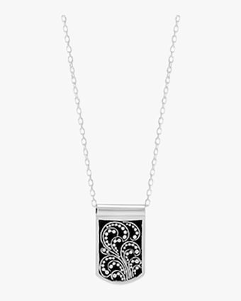 Reversible Signature Scroll Dog Tag Necklace