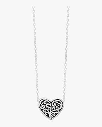Small Carved Heart Necklace