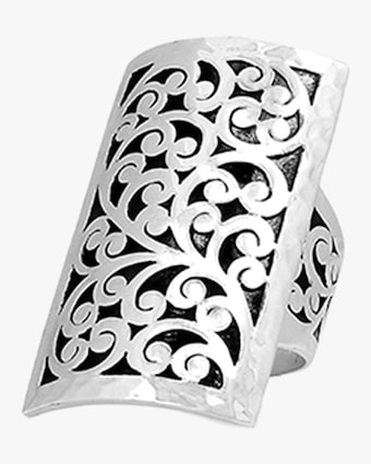 Classic Signature Carved Scroll Ring