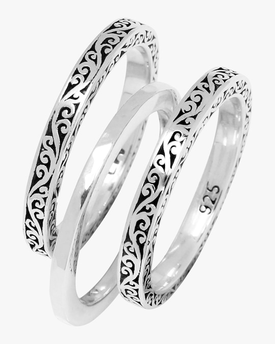 Lois Hill Scroll Stacking Rings 0