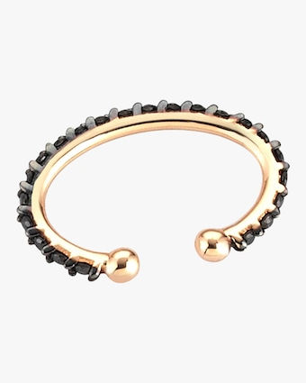 Black Diamond Single Cuff Earring