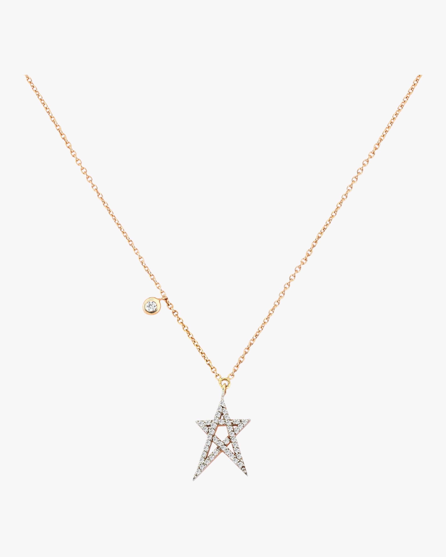 Struck Doodle Star Dangling Necklace