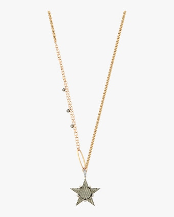 Eclectic 3 Star Rose Gold Necklace