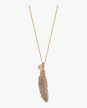 Midi Raven Feather Necklace