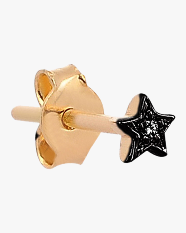 Mini Star Black Diamond Single Stud Earring