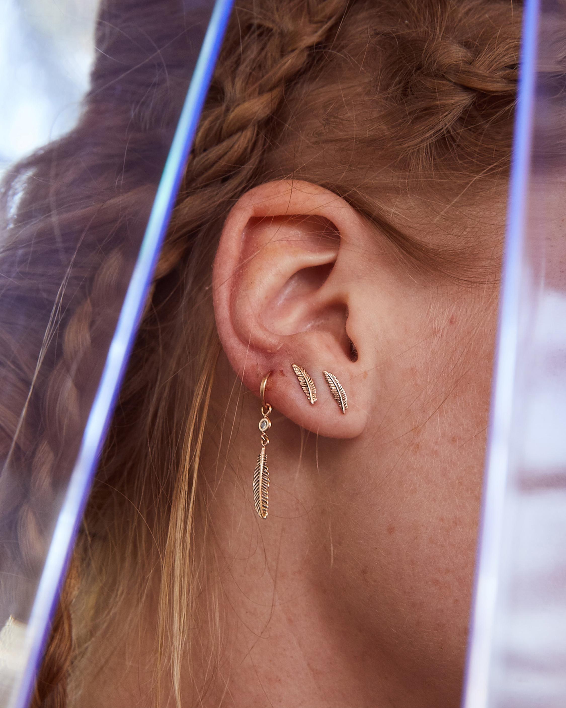 Feather Single Earring