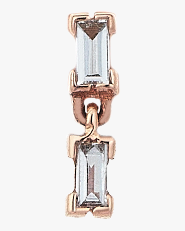 Baguette Duo Chain Single Stud Earring