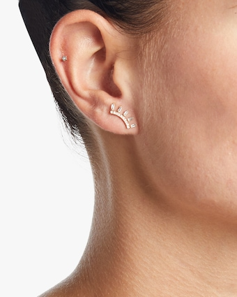 Ladder Baguette Single Stud Earring