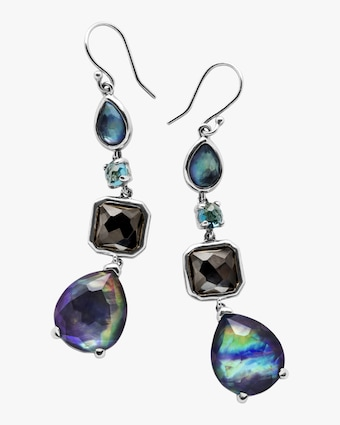 Rock Candy 4-Stone Eclipse Drop Earrings
