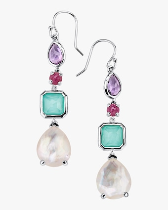 Rock Candy 4-Stone Multi Drop Earrings