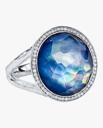Lollipop Lapis Diamond Ring