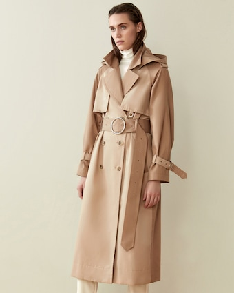 CAALO Camel Long Hooded Trench 2