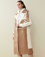 CAALO Camel / White Convertible Hooded Trench 1