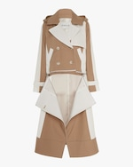 CAALO Camel / White Convertible Hooded Trench 2