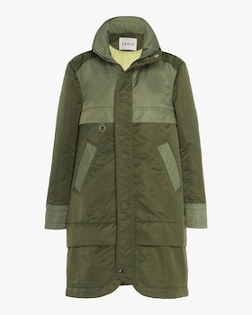 Sustainable Down Aviator Satin Anorak