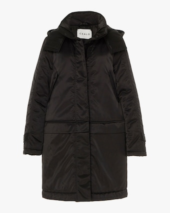 CAALO Black Convertible Satin Down Coat 1
