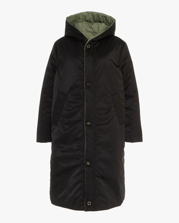 CAALO Black / Military Green Reversible Satin Down Coat 0