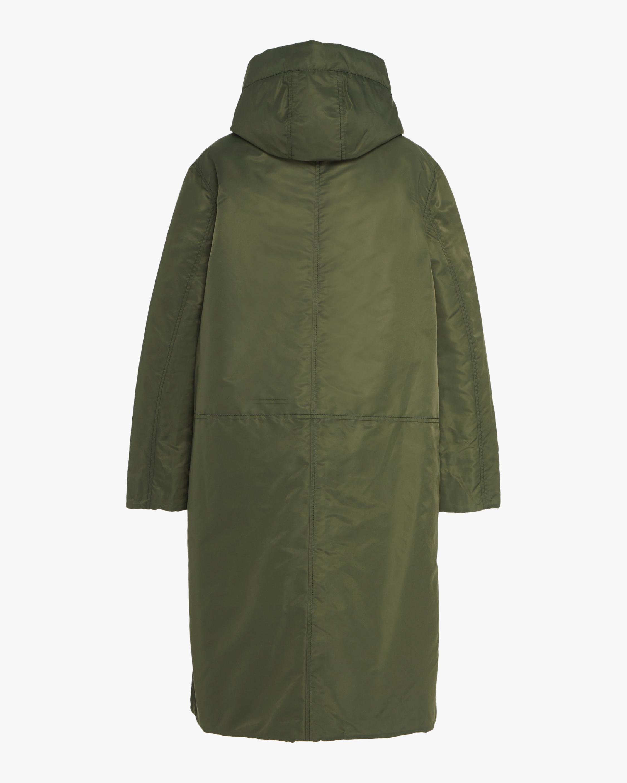 CAALO Black / Military Green Reversible Satin Down Coat 4