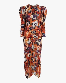 Bianco Painterly Floral Midi Dress